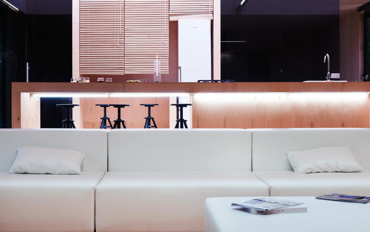 Гостиная, холл в цветах: белый, темно-коричневый, коричневый, бежевый. Гостиная, холл в стилях: минимализм, экологический стиль.