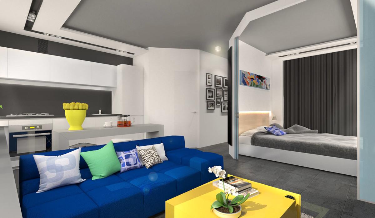 Мебель и предметы интерьера в цветах: бирюзовый, серый, белый. Мебель и предметы интерьера в стиле минимализм.