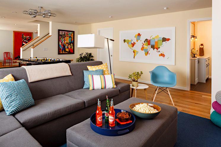 Гостиная, холл в цветах: серый, бежевый. Гостиная, холл в .