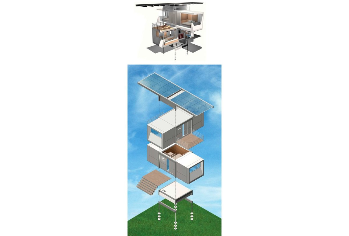 Архитектура в цветах: серый, светло-серый, белый. Архитектура в стиле минимализм.