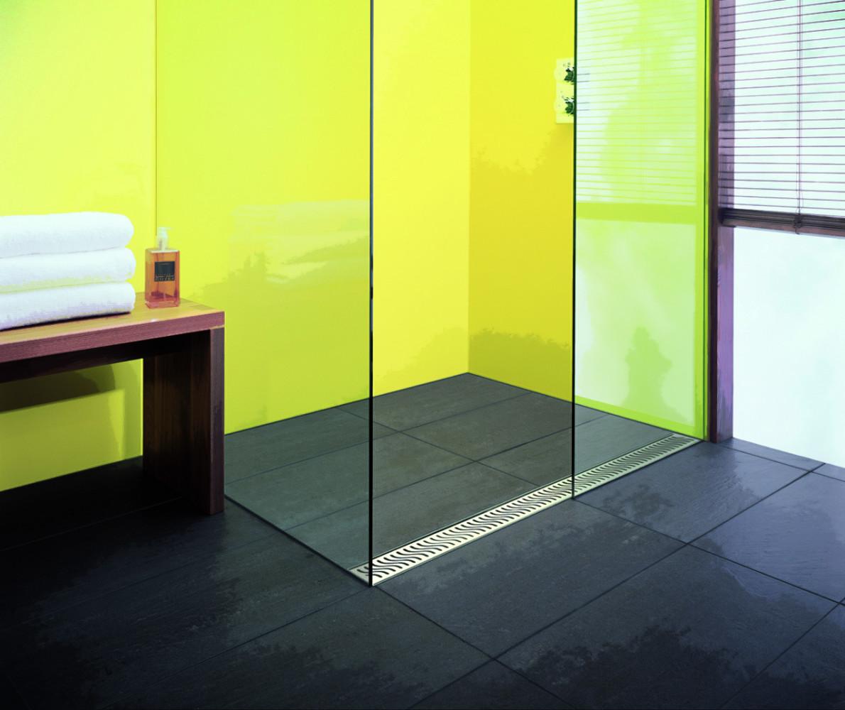 Туалет в цветах: черный, серый, белый, лимонный. Туалет в стиле минимализм.