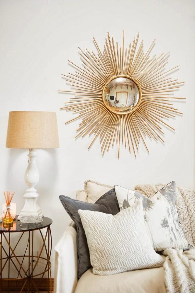Мебель и предметы интерьера в цветах: желтый, серый, светло-серый, бежевый. Мебель и предметы интерьера в стиле арт-деко.