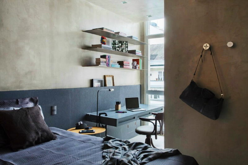 Мебель и предметы интерьера в цветах: черный, серый, светло-серый, белый, коричневый. Мебель и предметы интерьера в стиле лофт.