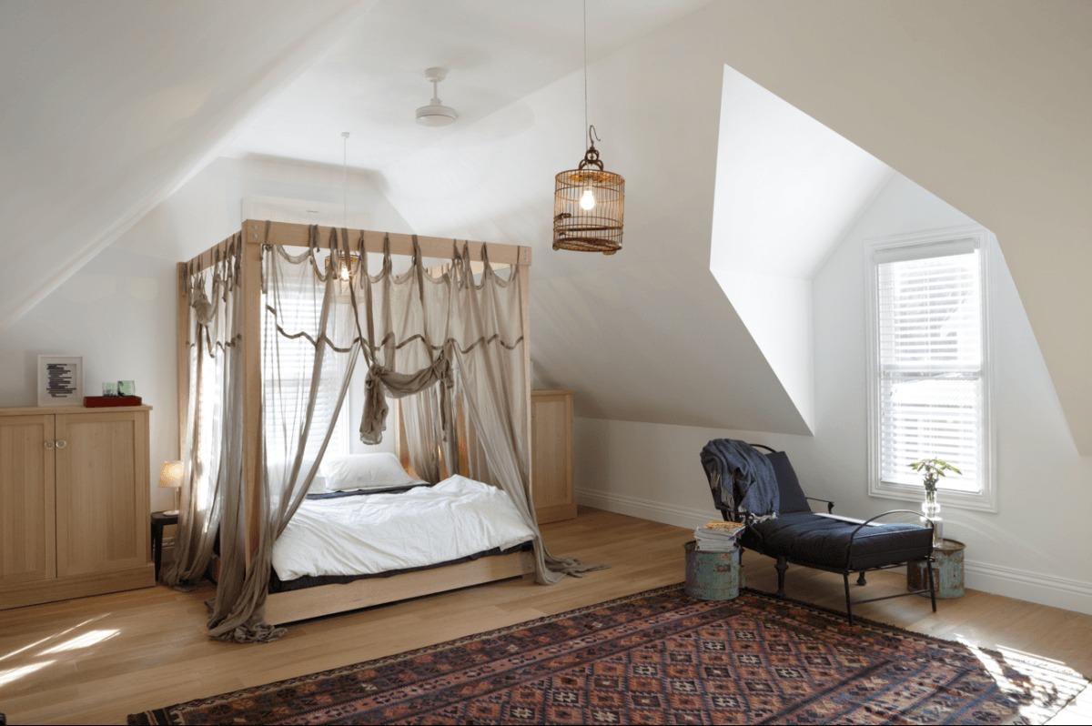 30 интерьеров спален с балдахинами