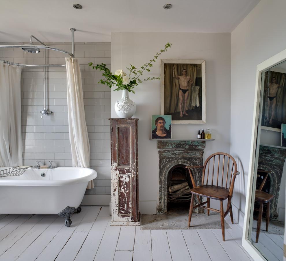 Как создать ванную комнату в винтажном стиле: 20 примеров и советы