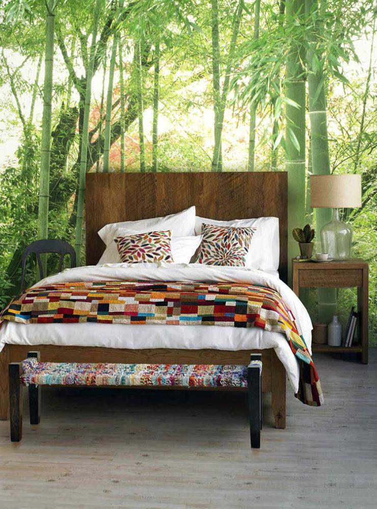 Спальня в  цветах:   Бежевый, Зеленый, Светло-серый, Серый, Темно-зеленый.  Спальня в  стиле:   Минимализм.