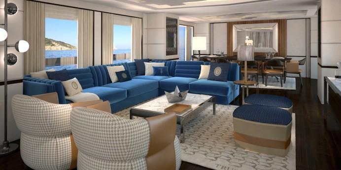 Яхта с мебелью Trussardi