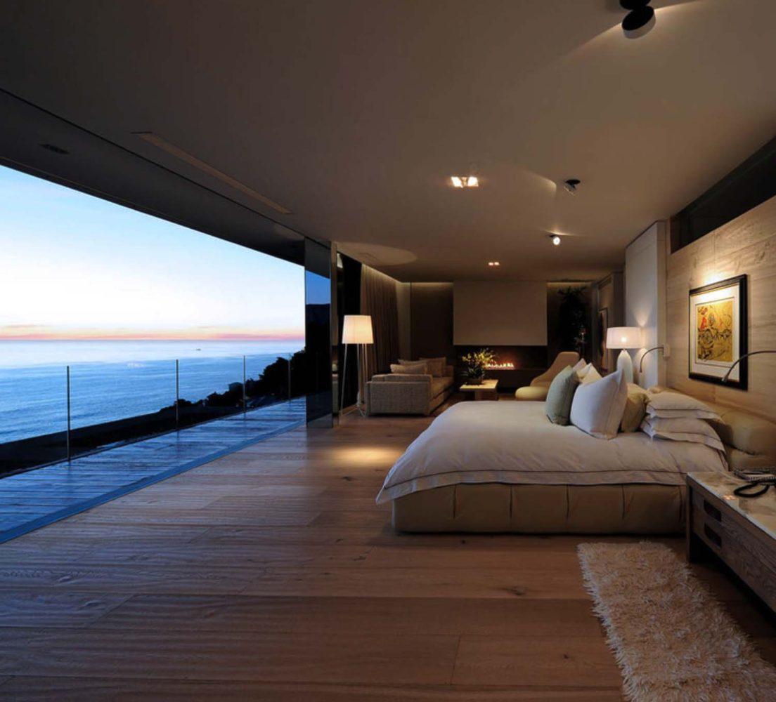 Спальня в  цветах:   Белый, Коричневый, Серый, Темно-коричневый, Черный.  Спальня в  стиле:   Минимализм.