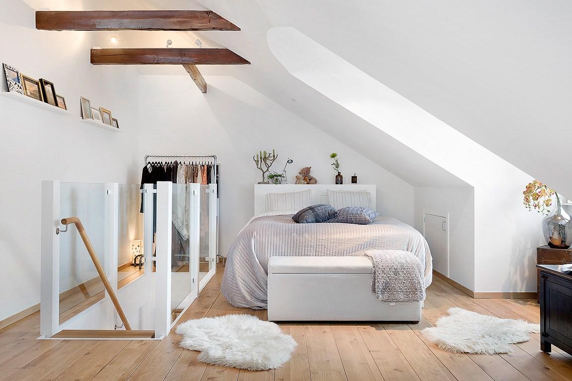 25 спален в мансарде