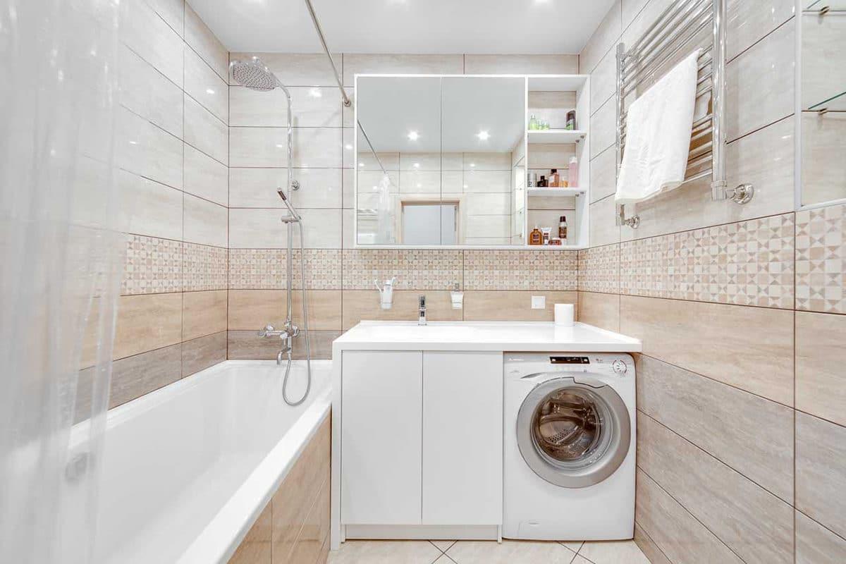 Туалет в  цветах:   Бежевый, Светло-серый.  Туалет в  стиле:   Минимализм.