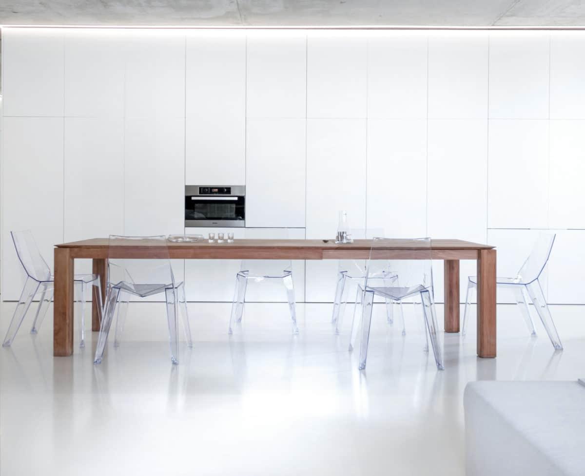 Кухня/столовая в  цветах:   Белый, Светло-серый.  Кухня/столовая в  стиле:   Минимализм.