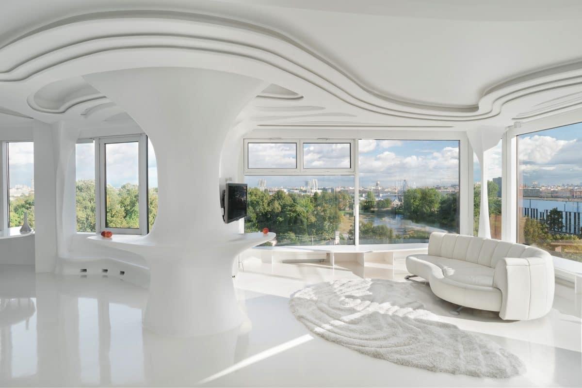 Большая семикомнатная квартира со свежим футуристическим ремонтом
