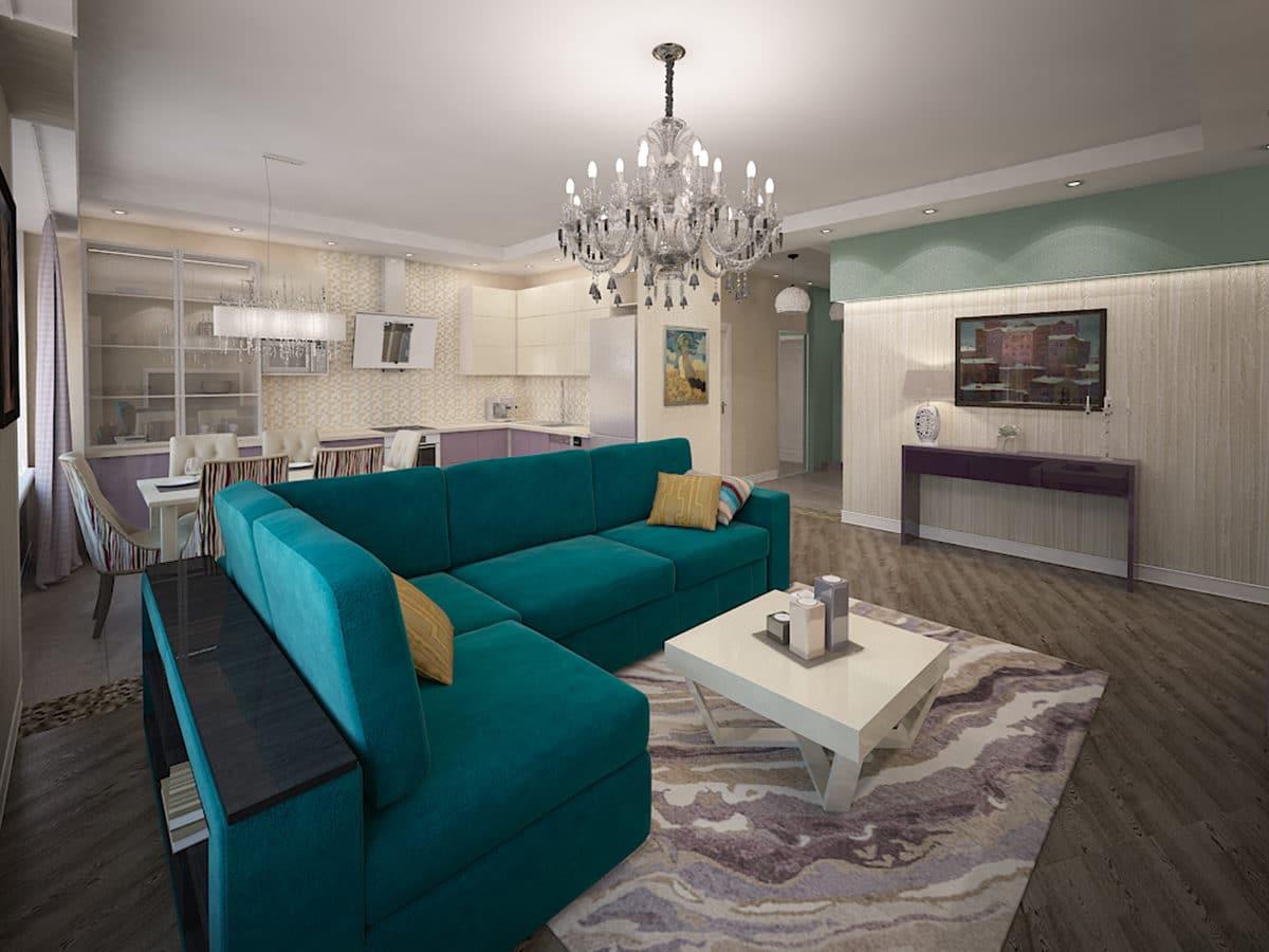 Женская квартира в Москве: 4 комнаты, чудесная детская и нежные тона