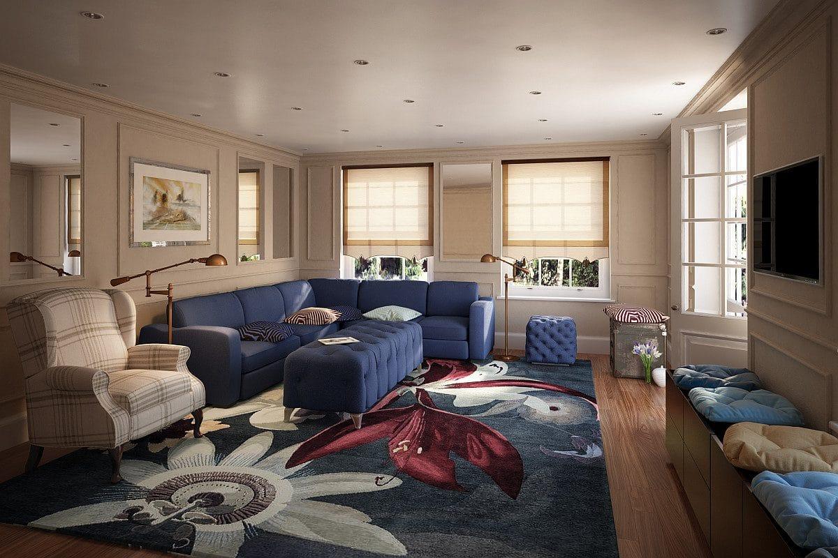 Цвет в интерьере: 85 примеров цветных гостиных