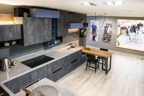 Кухня/столовая в  цветах:   Белый, Светло-серый, Серый, Черный, Бежевый.  Кухня/столовая в  стиле:   Лофт.