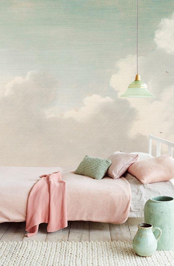 Спальня в  цветах:   Бежевый, Коричневый, Темно-зеленый, Темно-коричневый.  Спальня в  стиле:   Минимализм.
