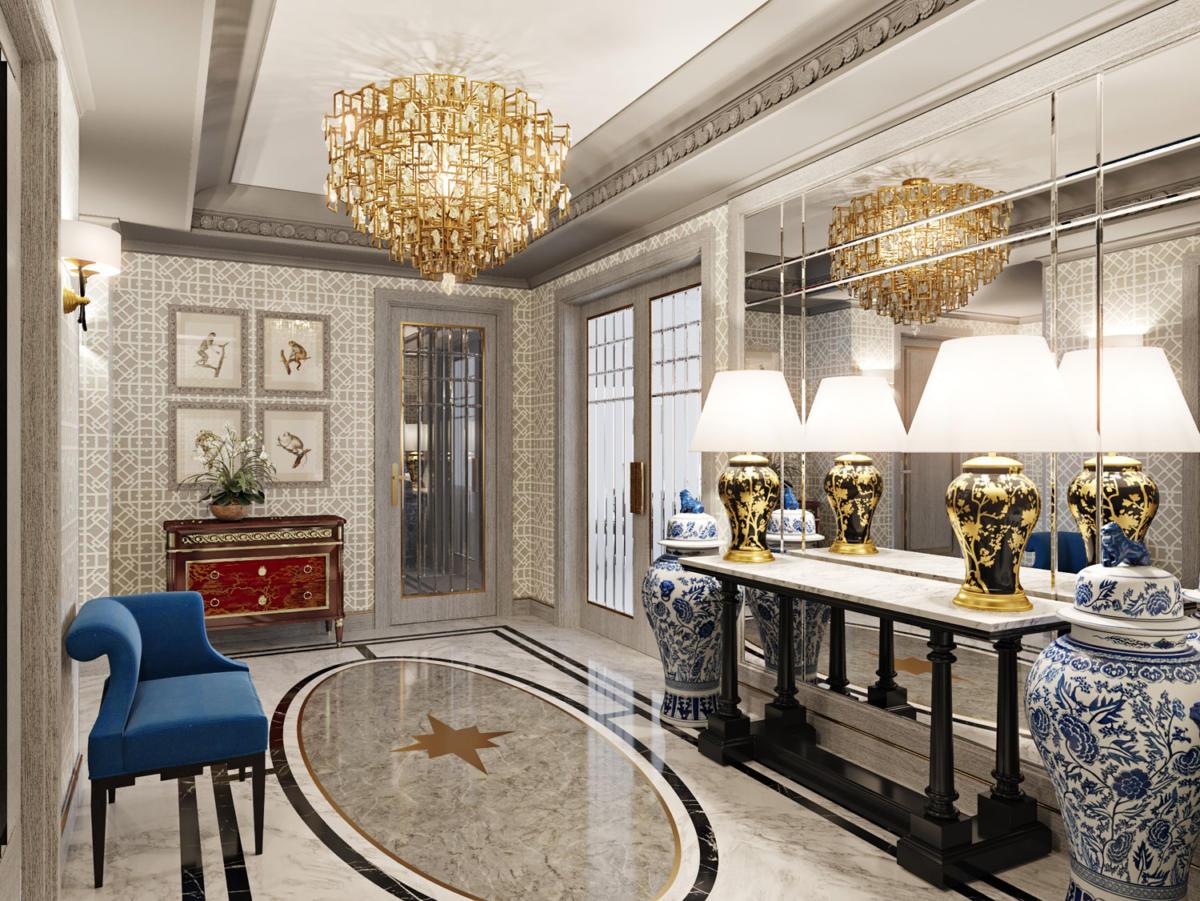 Гостиная в  цветах:   Бежевый, Светло-серый, Темно-коричневый, Фиолетовый.  Гостиная в  стиле:   Эклектика.