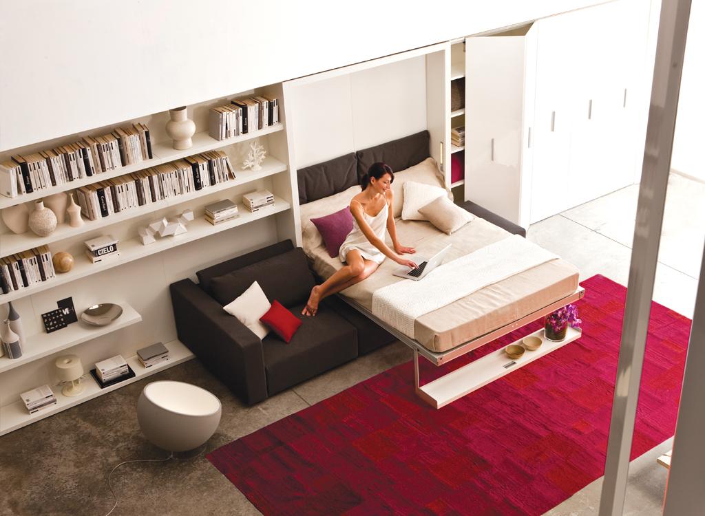 Откидная кровать: 20 идей для мгновенного преображения маленькой квартиры
