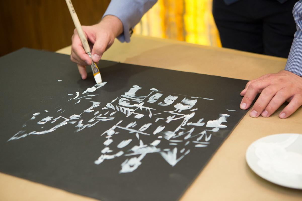 Фотоотчёт с открытия выставки графики Сергея Эстрина