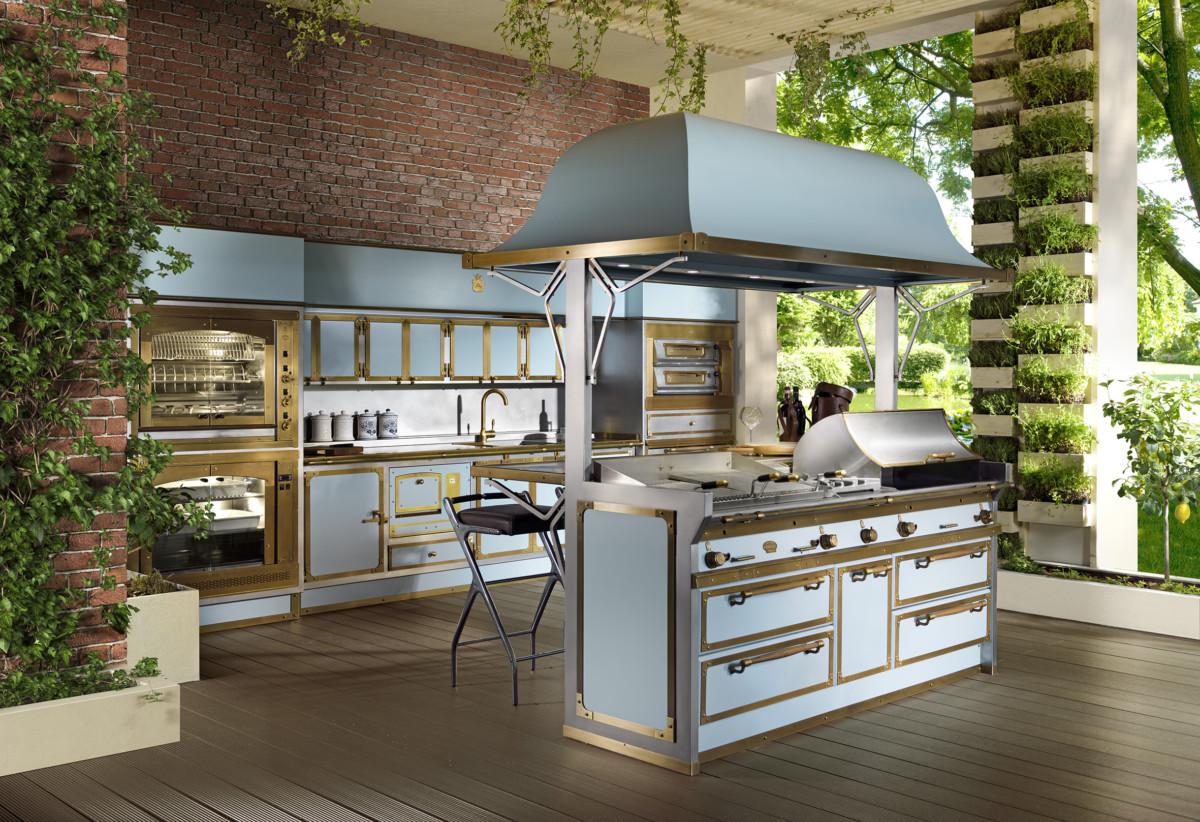 Голубая кухня, которая понравится всем