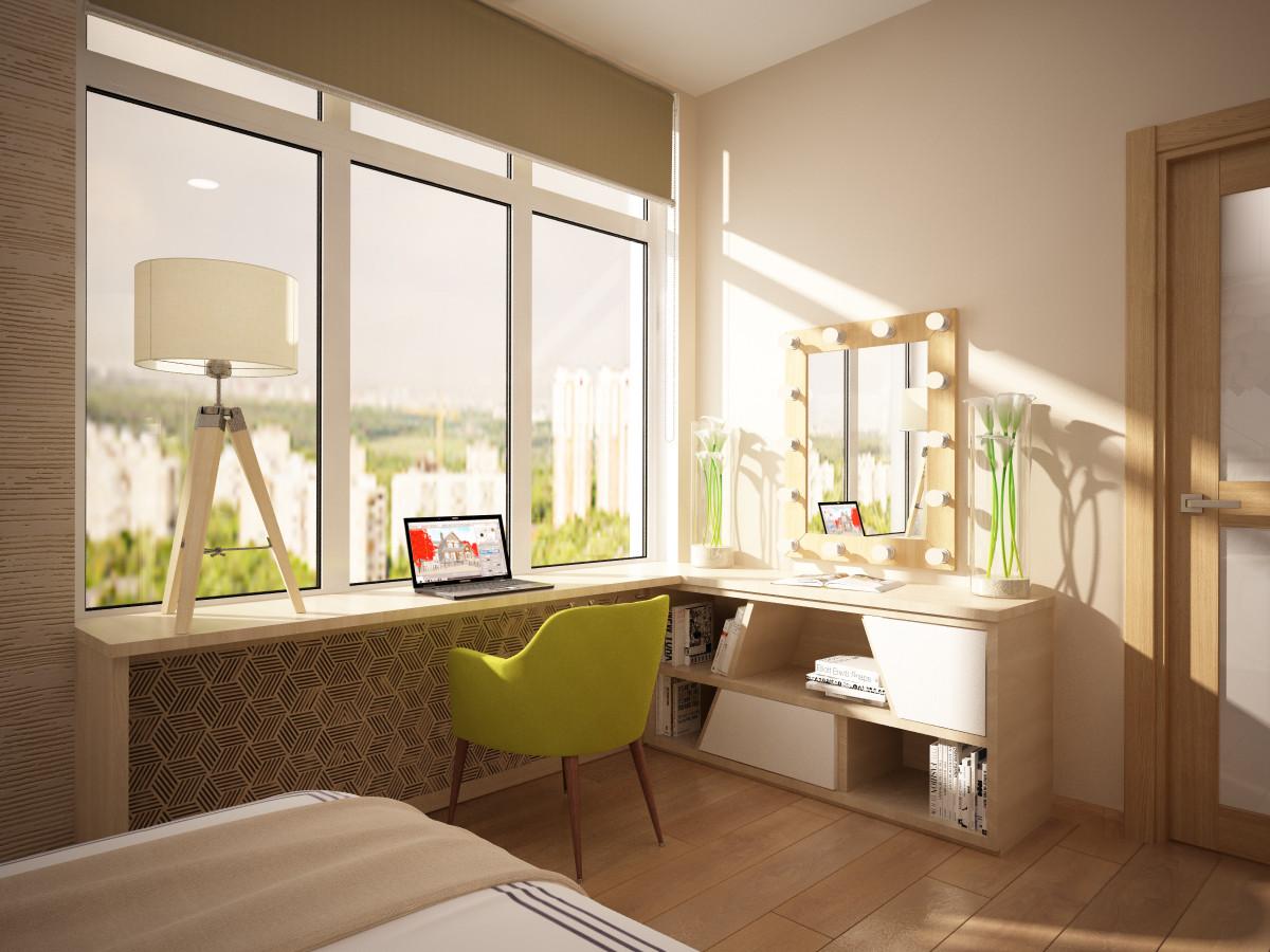 дизайн комнаты с выходом на лоджию фото