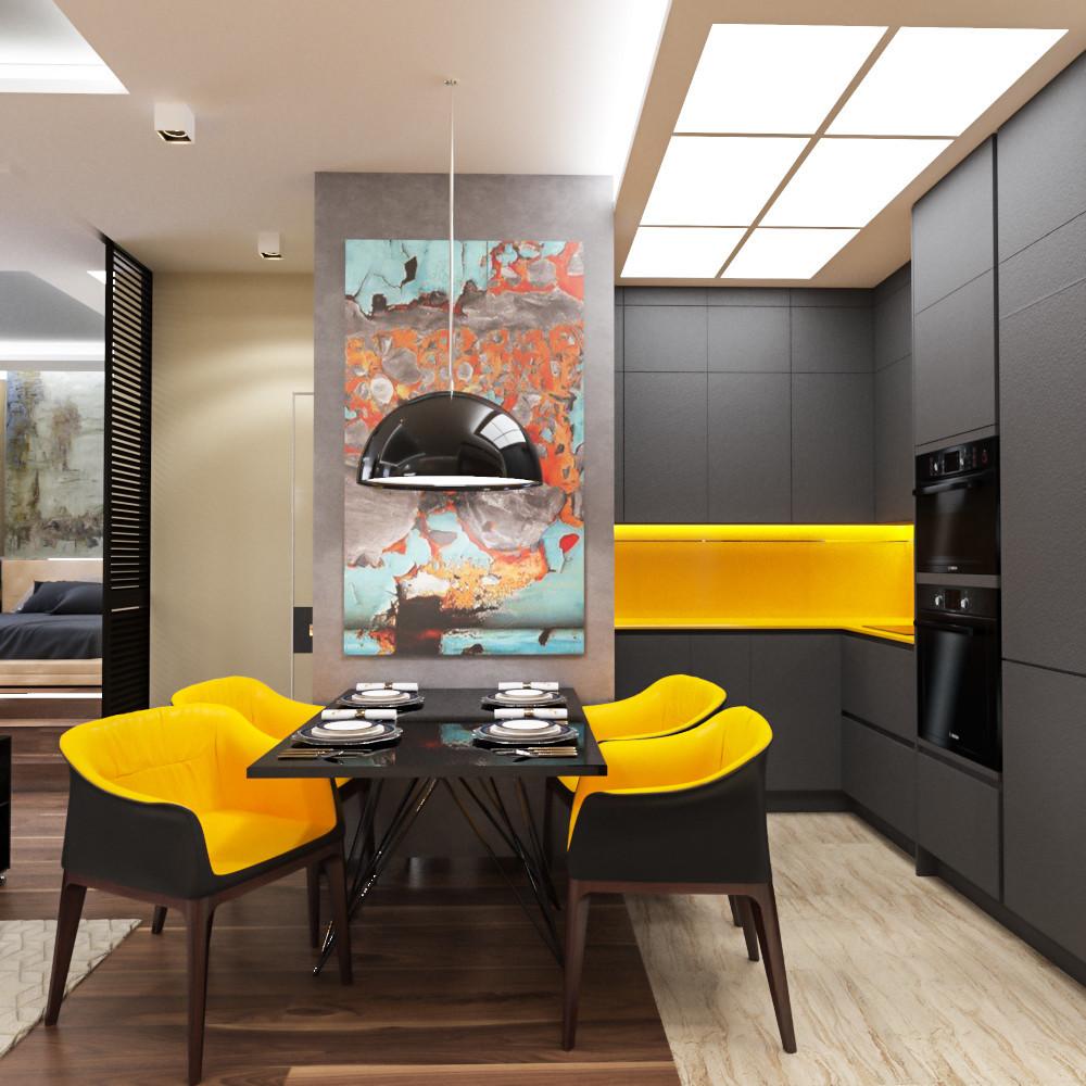 7 двухкомнатных квартир в современном стиле