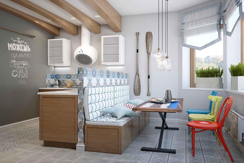 Пока хозяйка кухни занята приготовлением вкусного обеда, другие могут смотреть телевизор, общаться или даже работать за компьютером.