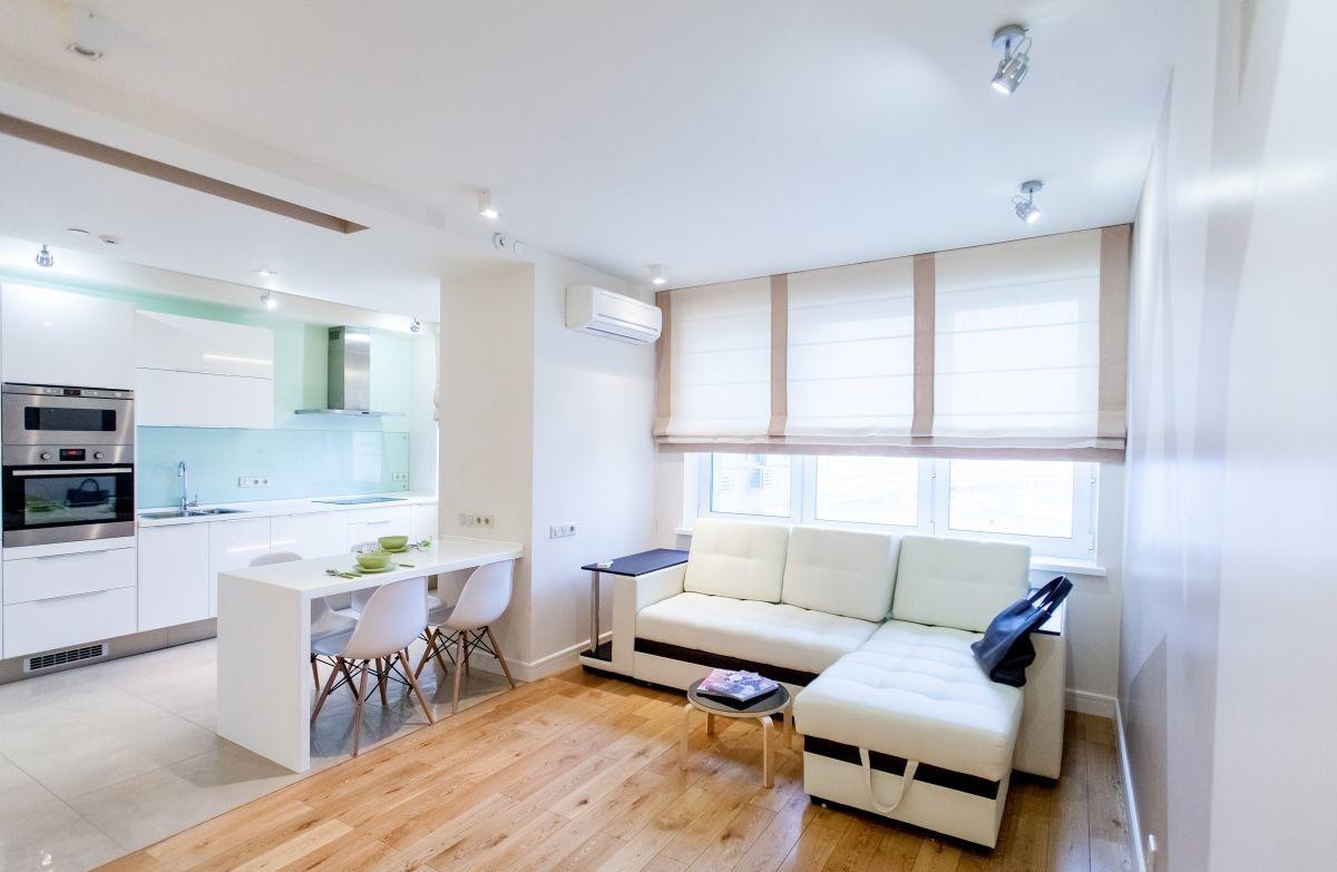 9 белых квартир в современном стиле.
