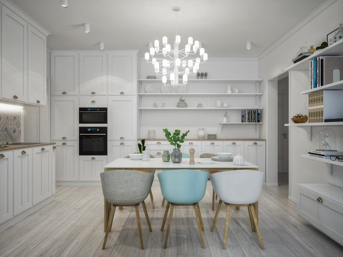 Светлая трёхкомнатная квартира в скандинавском стиле