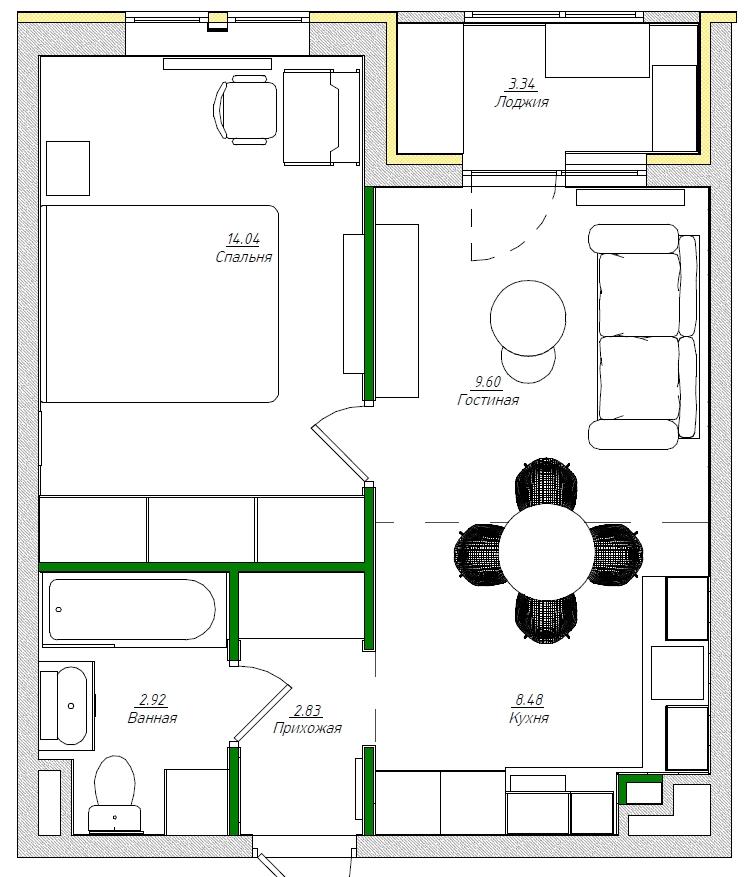 планировка и зонирование квартиры