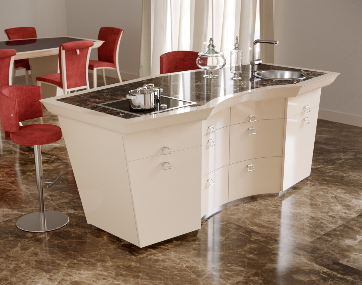 Кухня/столовая в  цветах:   Бежевый, Бордовый, Светло-серый, Темно-коричневый.  Кухня/столовая в  стиле:   Арт-деко.