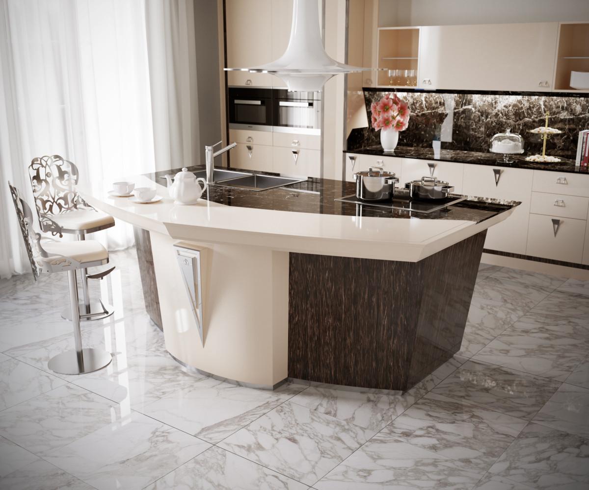Кухня/столовая в  .  Кухня/столовая в  стиле:   Арт-деко.