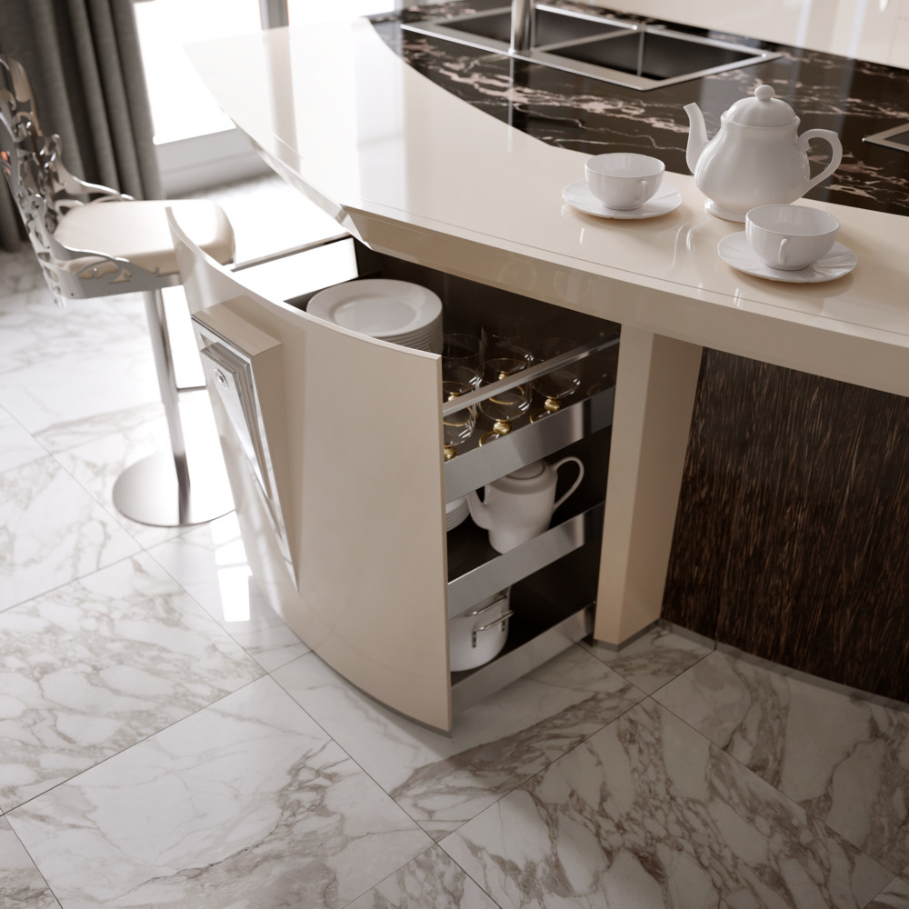 Кухня/столовая в  цветах:   Коричневый, Светло-серый, Темно-коричневый.  Кухня/столовая в  стиле:   Арт-деко.