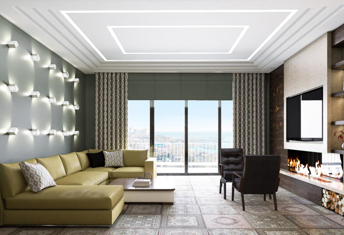 Стильная большая квартира в Сочи