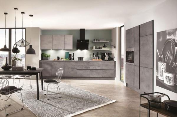 Кухня/столовая в  цветах:   Бежевый, Коричневый, Темно-коричневый.  Кухня/столовая в  стиле:   Лофт.