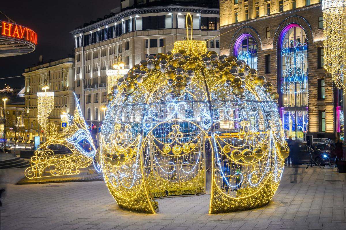 30 самых ярких фотографий московского фестиваля «Путешествие в Рождество»