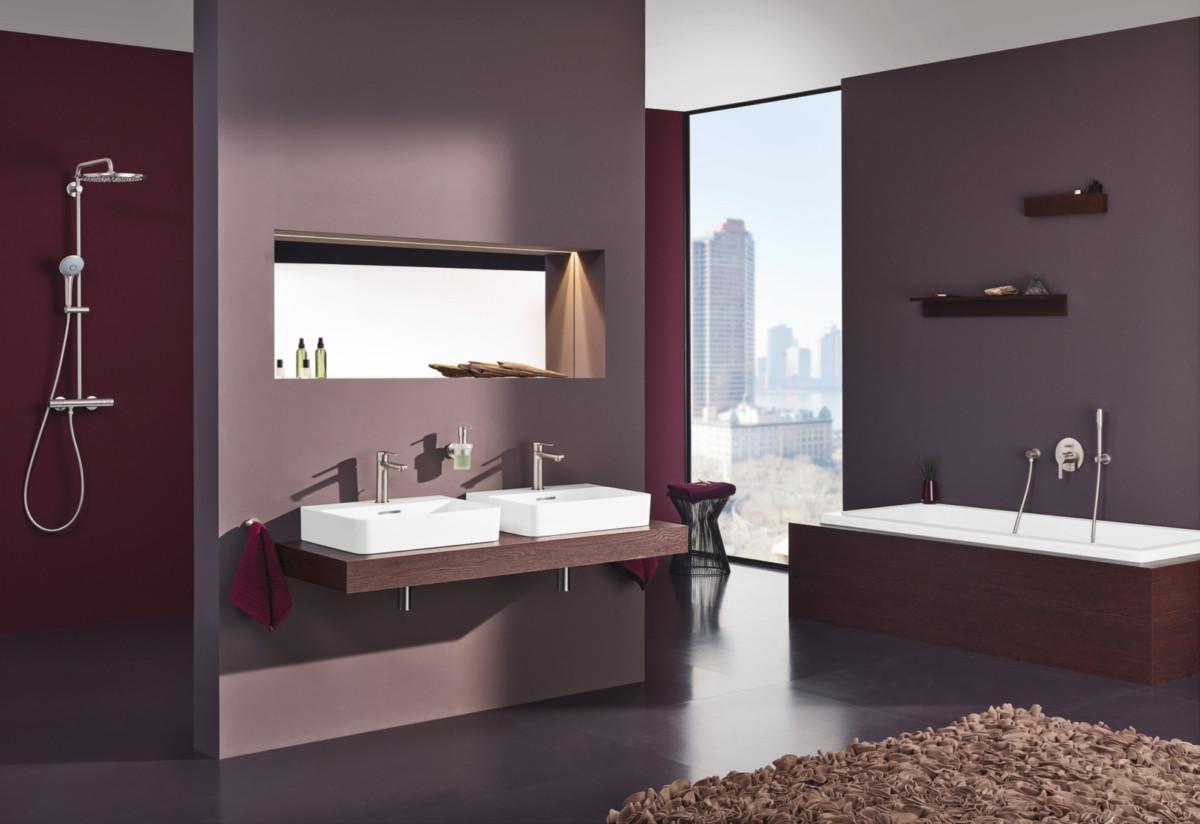 Модный тренд: геометрия в ванной комнате