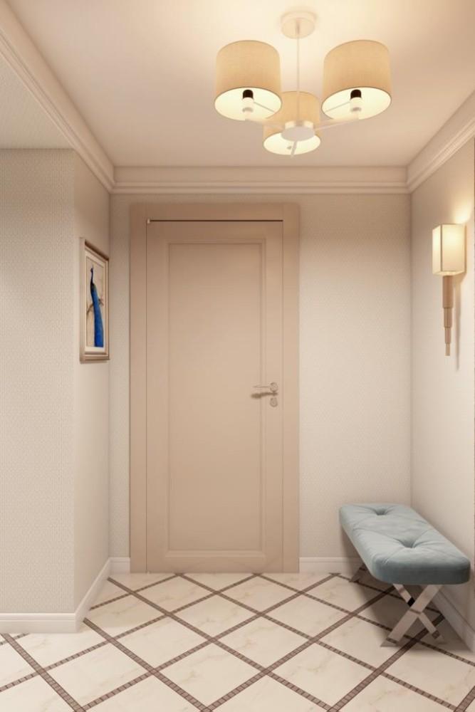 Первое впечатление при входе в дом - это очень важно. Необходимы комфорт и эстетическое восприятие. Для воплощения этой задумки, мы реализовали просторное и светлое пространство с необходимым набором предметов (пуф, зеркало, галошница)
