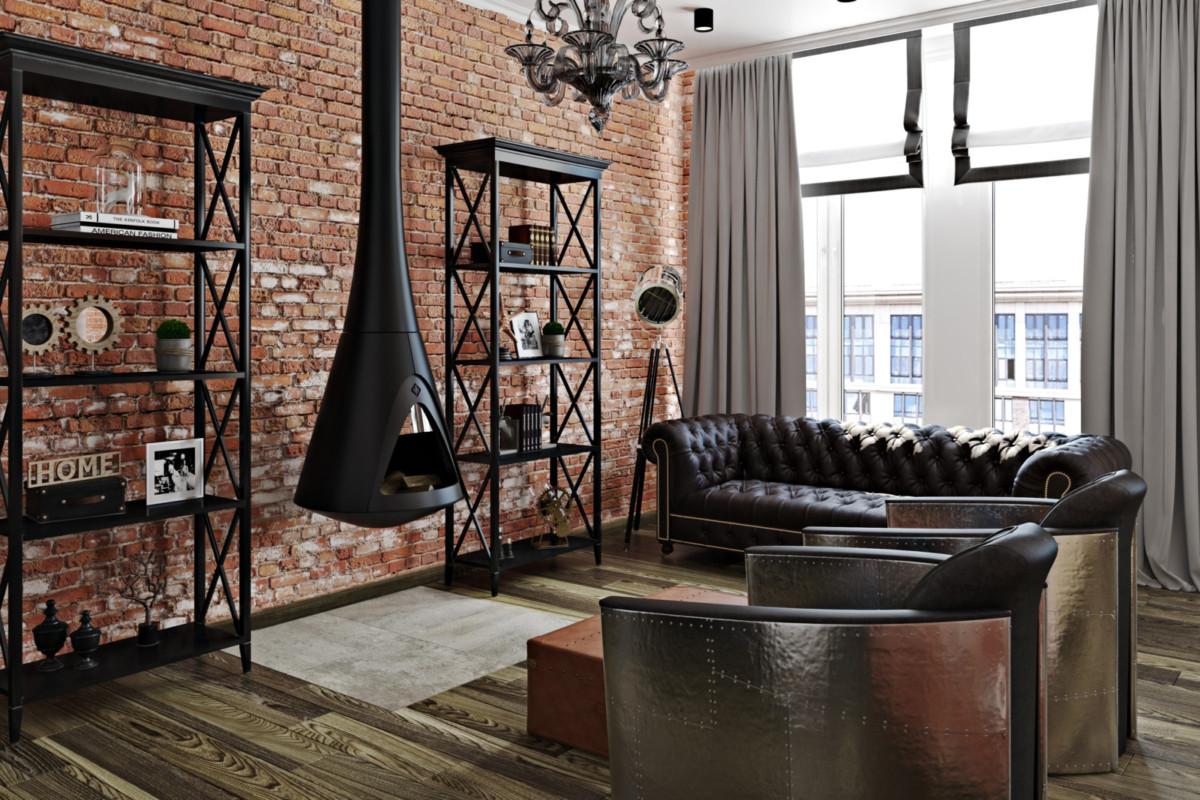 Смешать но не взбалтывать: классика и лофт в одной московской квартире
