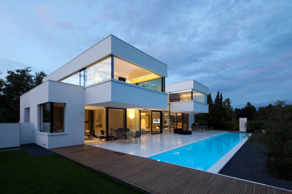Архитектура в  цвете:   Белый.  Архитектура в  стиле:   Хай-тек.