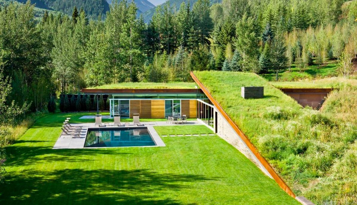 Архитектура в  цветах:   Бирюзовый, Лимонный, Салатовый, Темно-зеленый.  Архитектура в  стиле:   Хай-тек.