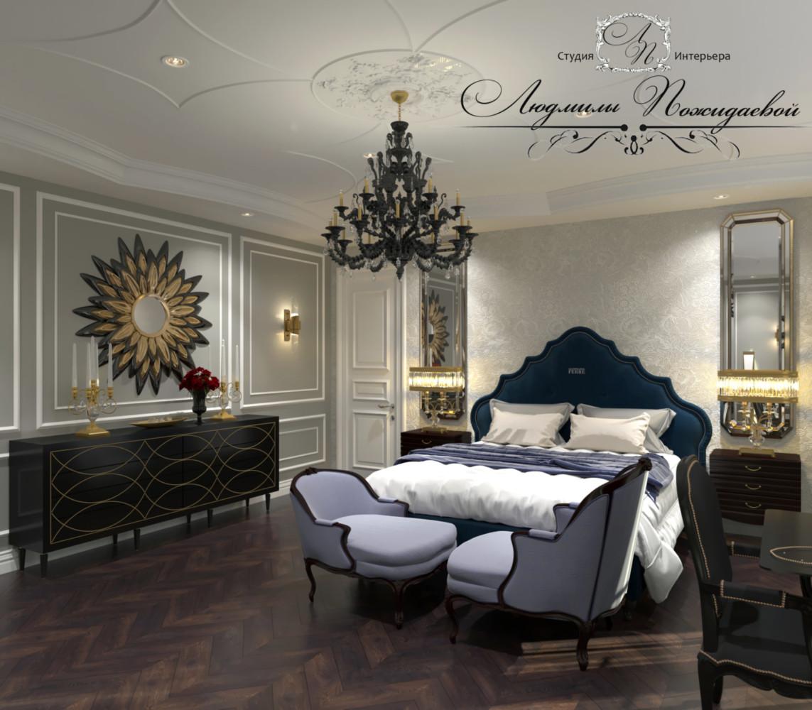 Красивые кровати и комоды - обязательные детали интерьера хозяйской спальни.