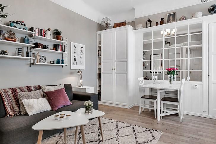 Дизайн квартиры-студии площадью 25 метров