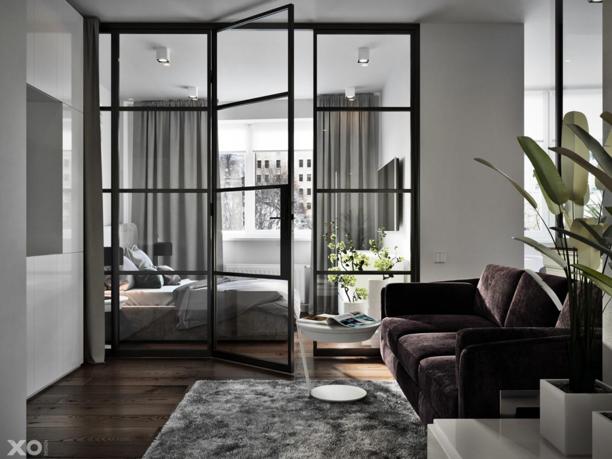 Дизайн однокомнатной квартиры площадью 48 метров