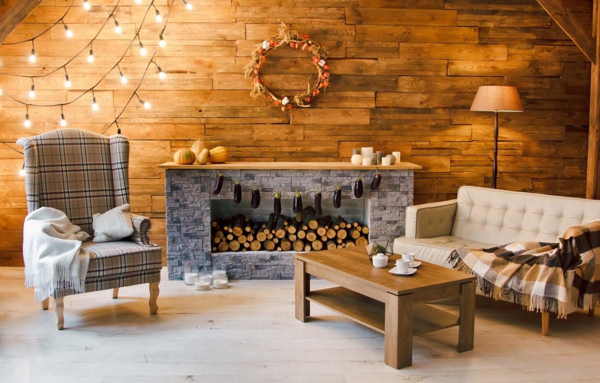 Дизайн в деревянном доме из бруса: фото и примеры