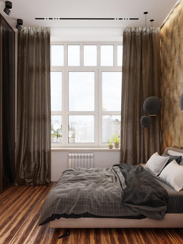 Двухкомнатная квартира для проживания мужчины.